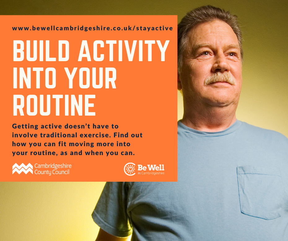 Man preparing to build activity into his routine